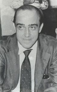 Architect Oscar Niemeyer in the 1950s.
